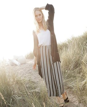 Capri Collection Malou Pants Black/Sandstorm/Creme