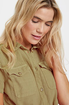 Saint Tropez Kate Shirtdress Khaki