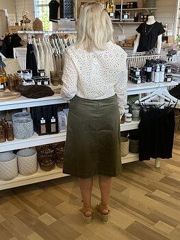 Saint Tropez Cordie Skirt Army Green