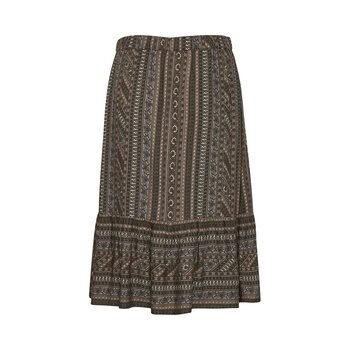 Cream Fiorella Skirt Brown Ethnical Stripe