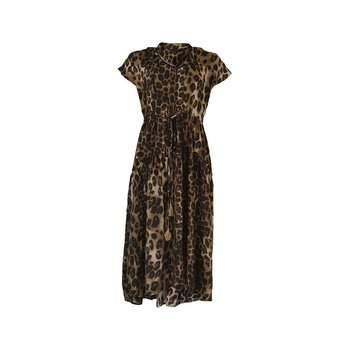 LUNA MAE SS Dress Leopard - Black Colour