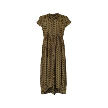 LUNA MAE SS Dress Wild Gold - Black Colour