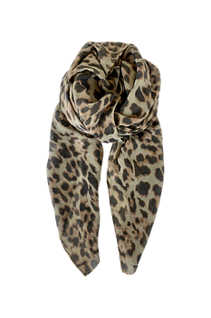 LANA Leo Scarf Army - Black Colour