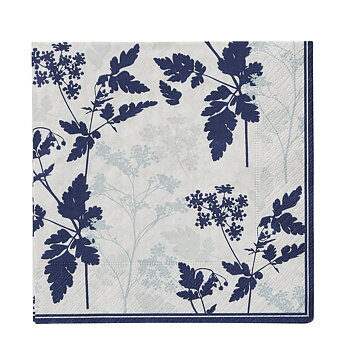 Florie pappersservetter vit & blå