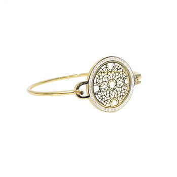 Amulette deco armband guld/silver