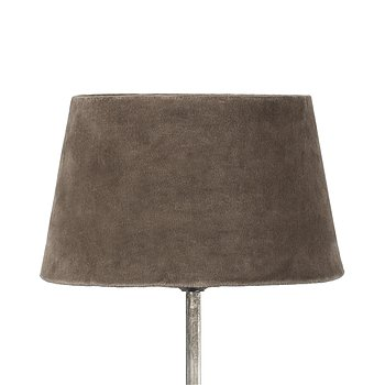 Lampskärm khaki sammet - olika storlekar
