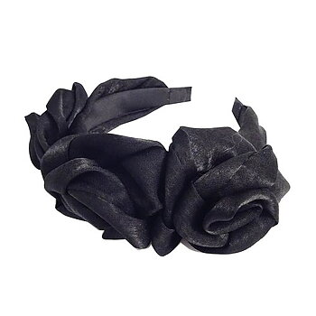 Diadem blomma svart