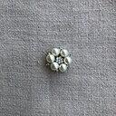 Knapp pärlor och strass 30 mm