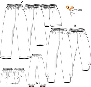 sy shorts mönster dam