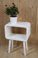 Träbord i vitt från Silkflower