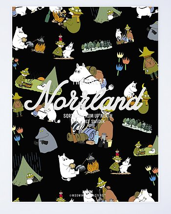 Great Norrland Mumin Icons Svart T-Shirt