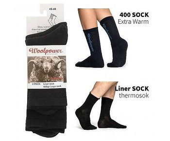 Woolpower Socka 2-pack 1st classic liner + 1st loggo 400