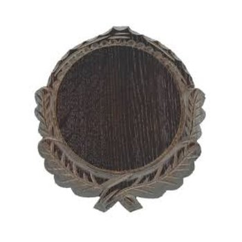 Vildsvinssköld med eklöv 16cm mörkek