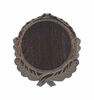 Vildsvinssköld med eklöv 19cm mörkek
