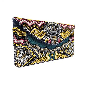 MAYOR BEADED CLUTCH DARK