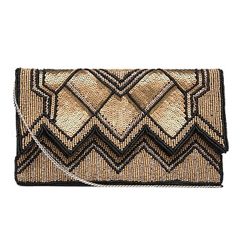 TAMIKA BEADED CLUTCH GOLD