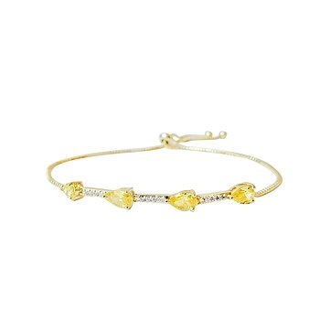 KYLIE STRING BRACELET YELLOW