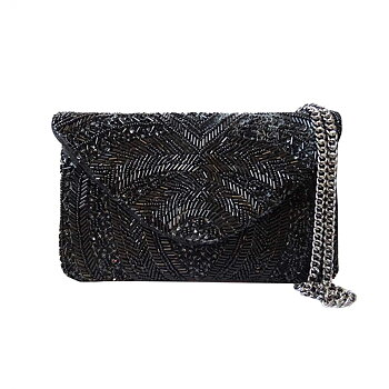 SINTRA BEADED CLUTCH BLACK