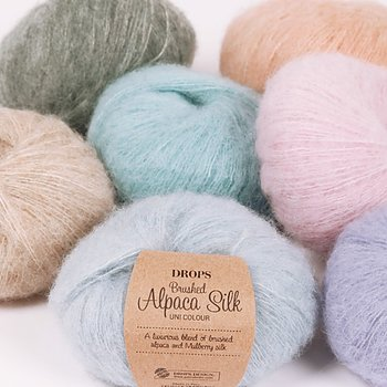 Brushed Alpaca Silk uni colour