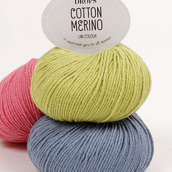 Cotton Merino uni colour