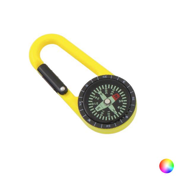 Karbinhake med Kompass & Termometer Svart Hobby & Fest