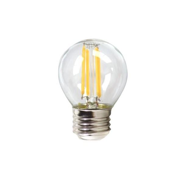 Sfärisk LED lampa Silver Electronics 980927 E27 10W Varmt