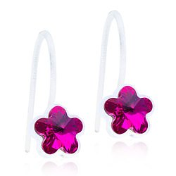 Blomdahl Medical Plastic MP PENDANT FIXED FLOWER 6 MM, FUCHSIA