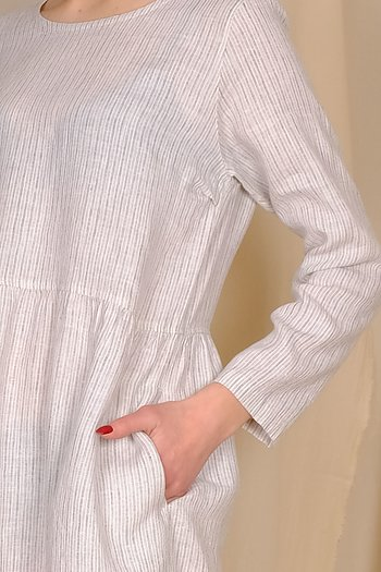 Stripes - Mahli - linen dress