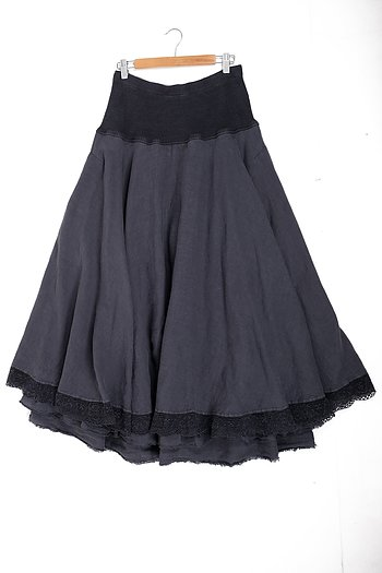 Stella - double layered linen skirt