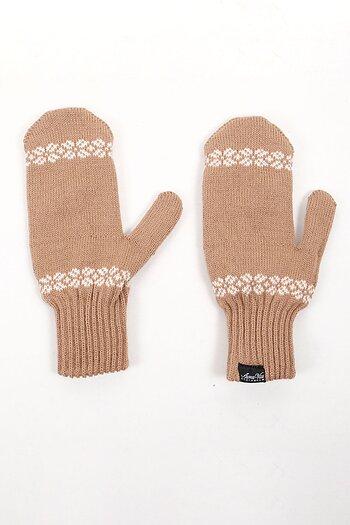 Wool Mittens - ecru