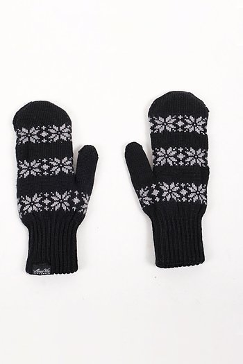 Wool Mittens - black