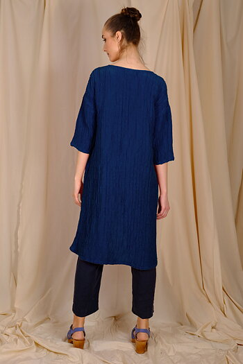 Navy blue Udo - silk dress/tunic from AureaVita