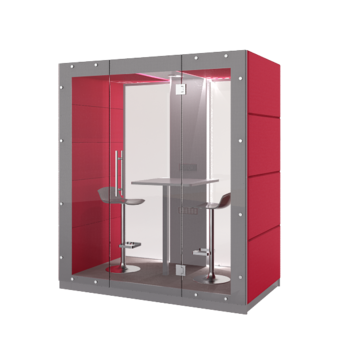 Mobilt tyst rum - 2 personer - Framsida och baksida med glas. 210 cm x 126 cm