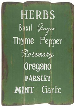 Träskylt Herbs