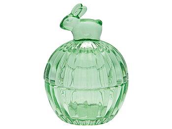 GreenGate Glasburk Kanin Grön