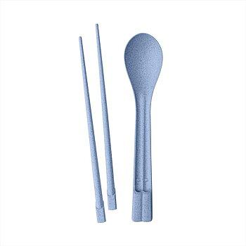 Ätpinnar Set med sked, DYNASTY, Organic Blue