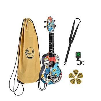 ORTEGA K2-SR Keiki Soprano ukulele-pack, Samurai