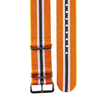 "Nato - Armband – ""Orange, white & black"""