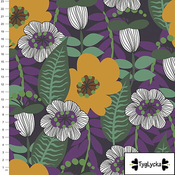 Retro flowers purple