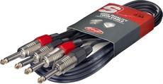 10M/33FT TWIN CABLE PLUG-PLUG