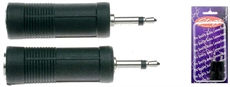 2 Fem Jack/Male Mini Jack Adap