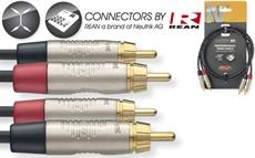 2M/6FT TWIN CBL RCAm-RCAm DLX