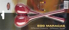 2Pc Egg Maracas L/ 3/4Oz/Red