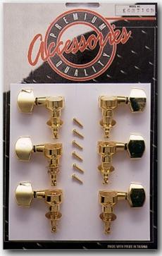3+3 Elec.Machine Heads Gold