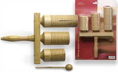 3-Tone Agogo Wood Bell+Mallet