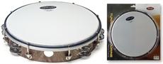 "10""Tambourine 2Rw Jg/Plst Wood"