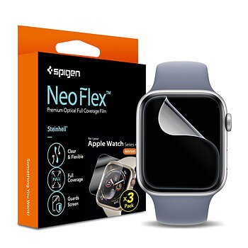 Spigen Neo Flex Skärmskydd till Apple Watch 44mm - 3 Pack
