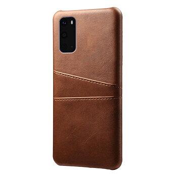 Samsung Galaxy S20 Ultra Skal med Kortfack - Brun
