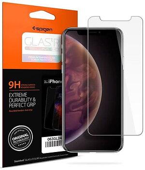 Spigen EZ FIT GLAS.tR Slim Härdat skärmskydd till iPhone 11 Pro & XS/X