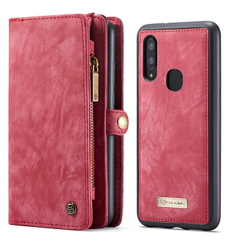 CaseMe Samsung Galaxy A40 Plånboksfodral - Röd